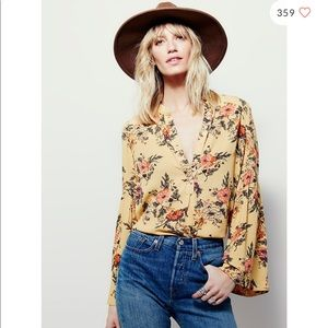 Free People Easy Girl Printed Top S